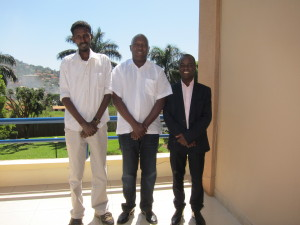 From left to right: Hassan Mohamed Ali (Antena) a journalist from Somalia, Hassan Shire Sheikh – Executive Director of East and Horn of Africa Human Rights Defenders Project and  Frank Mugisha  - Executive Director of Sexual Minorities Uganda