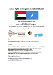 Somalia Sudan Flyer